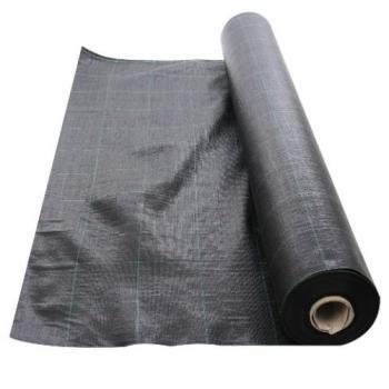 Folie Agrotextil AGV Super Strong, Antiburuieni, Mulcire, Filtru UV, 100gr/mp, Latime 1.5m, Lungime 100 Metri, Patratele 25x25cm