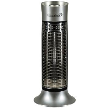 Radiator Electric din Fibra Carbon Hausberg HB8750, 900 W, 2 Nivele de Putere, Exterior, Argintiu
