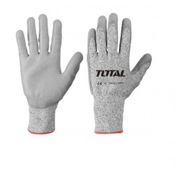 Manusi de Protectie Total,PU + HPPE + Textil, Rezistente la Taiere, Marimea XL