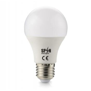 Bec Led E27, Model Glob A60, 8W=65W, 6400K, Lumina Rece, 12V DC, 560Lm