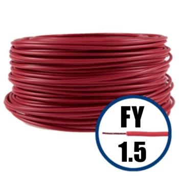 Conductor Electric FY (Cupru Masiv, H07V-U) 1.5mm, Rola 100m, Rosu