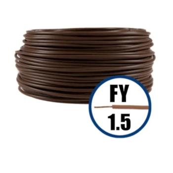 Conductor Electric FY (Cupru Masiv, H07V-U) 1.5mm, Rola 100m, Maro