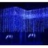 Instalatie de Craciun Perdea tip Turturi Fir Transparent 3 M X 1 M, 200 Leduri, Culoare Albastra