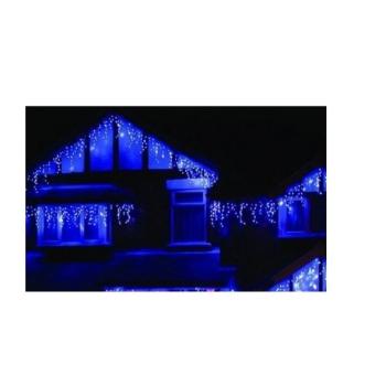 Instalatie De Craciun Perdea Tip Turturi Fir Transparent 4 M X 0.6 M, 100 Leduri, Culoare Albastra