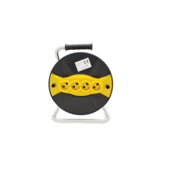 Tambur Pentru Rulat Cablul Electric Gol cu 4 Prize