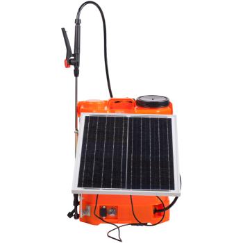 Pompa de stropit Electrica Cu Panou Solar, Evotools, 16 Litri, Tija extensibila 52-96 cm, 4 Duze, Acumulator inclus 12V-8Ah