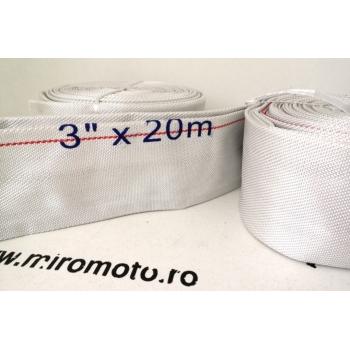 """Furtun Refulare Flat Textil CN diametru 3"""", Lungime 20 Metri"""