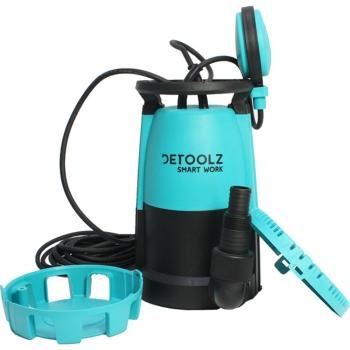 Pompa submersibila de apa curata/ murdara Detoolz, 750 W, 1 CP, 15.5 m, 17500 l/h