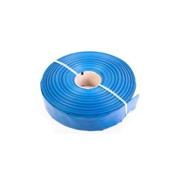 Furtun plat din PVC refulare pompa 2 toli 50m albastru insertie panza
