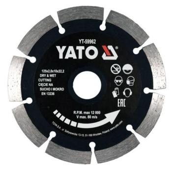 Disc Diamantat Segmentat 125X22.2X2mm Yato YT-59962