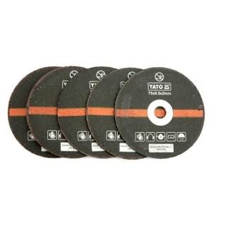 Set 5 Discuri YATO, Pentru Taiat Metal, Pentru Masina de Taiat Pneumatica YT-0993, Exterior 75mm, Interior 9.5mm, Grosime 2mm
