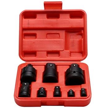 "Trusa 8 piese adaptor impact, 1/4 - 1/2 - 3/8 - 3/4 - 1"""