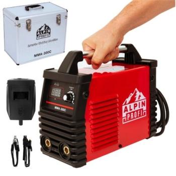 Aparat Sudura Tip Invertor MMA Alpin 300C, 300A + Valiza Aluminiu, Accesorii Incluse
