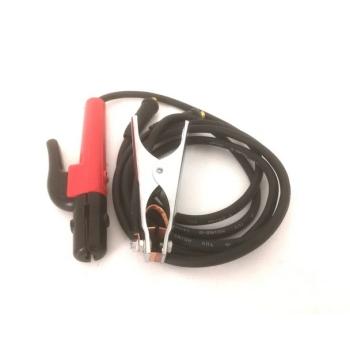 Set Cabluri de Sudura 14mmp cu Cleste Port Electrod 300A si Cupla Cablu DKJ 10-25mmp (Mufa 9mm)