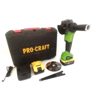 Polizor Unghiular (Flex) Procraft PWA216, 21V, 6Ah, 2 Acumulatori, 8500 RPM, Maner 3 pozitii, Diametru disc 115 mm, BRUSHLESS