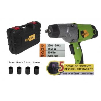 Pistol Electric cu Impact, PROCRAFT ES1650, 1650W, 450nm