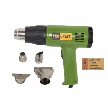 Pistol cu Aer Cald PROCRAFT PH2100, 2100 W, 300-600°C