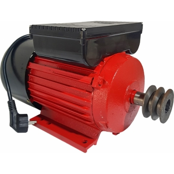Motor Electric Monofazat SWAT 1.5KW, 1500RPM, Buton Pornire, Fulie Dubla, Bobinaj Cupru