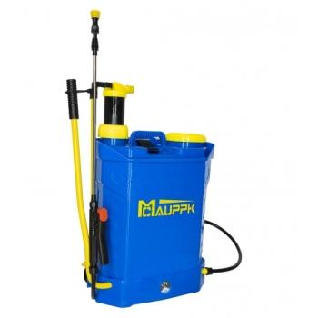 Pompa de Stropit Electrica + Manuala ( 2 in 1 ) 20 Litri - Mcauppk® + Regulator Presiune, Vermorel cu acumulator - 5 bar - 3 duze