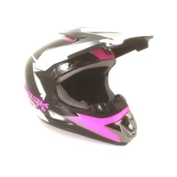 Casca Moto Cross, ATV, Enduro, Culoare Neagu+Roz, Marime XL (61-62)