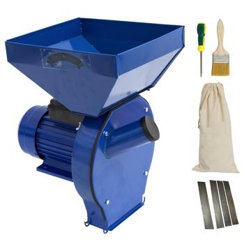 Moara electrica pentru uruiala si cereale MF GF-0063 cu sac si cuva mare, Cupru, 2.5 KW, 200 kg/h, 4 site incluse