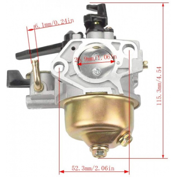 Carburator compatibil Honda GX 390, 13 CP cu robinet de benzina