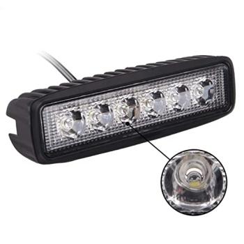 Proiector LED Auto Offroad, ATV 18W, 12V - 24V, 1080 Lumeni