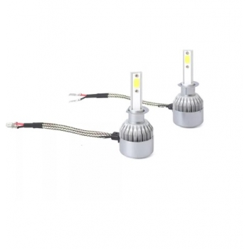 Set 2 Becuri LED Auto H1, C6, 6000K, 36 W, 3800 Lumeni
