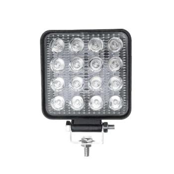 Proiector LED Auto, Offroad, 48W, 12V-24V, 1800 Lumeni, Patrat, 16 Leduri, Flood Beam