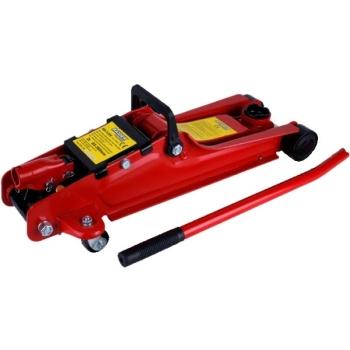 Cric Hidraulic Crocodil Raider 2 Tone, Inaltime Ridicare 130-300mm, Roti Metalice si Cutie de Transport RD-TJ01