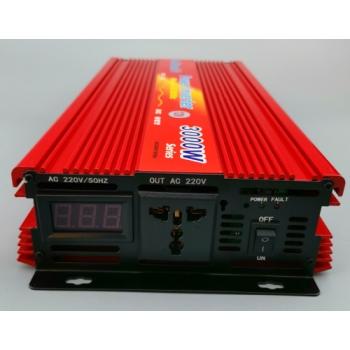 Invertor tensiune 24V-220V Lairun, 3000 W, putere continua 2000 W
