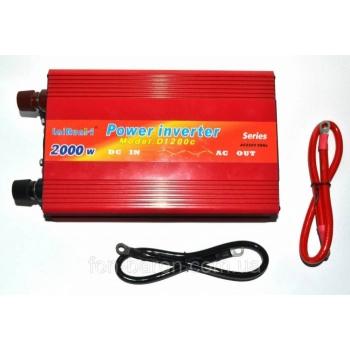 Invertor Tensiune 12V-220V Lairun, 2000 W, Putere Continua 1200 W