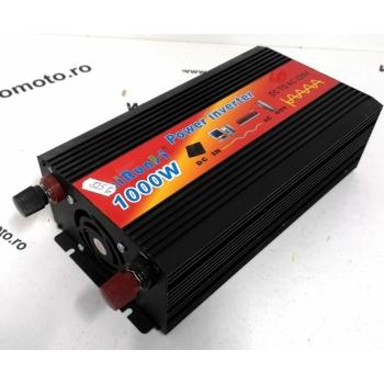 Invertor tensiune 12V-220V Lairun, 1000 W, sinus pur