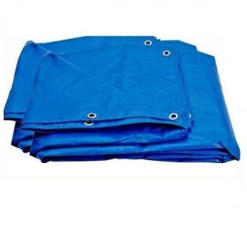 Prelata cu Inele tratata U.V. Latime 4m, Lungime 5m, Greutate 160g/mp, Culoare Albastru