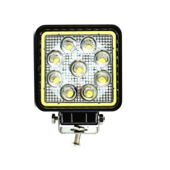 Proiector LED patrat 27W cu angel eyes Spot Beam 30° 12/24V