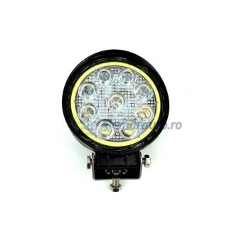 Proiector LED CH07-02 rotund 27W cu angel eyes Spot Beam 30 12V 24V