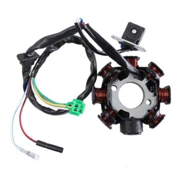 Stator Scuter GY6 125cc, 150cc 4 Timpi (8 Bobine+Senzor Scanteie, 5 Fire)